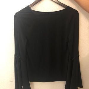 Express Tops - Black Blouse
